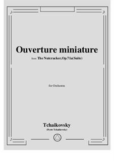 No.1 Miniature Overture : Score, parts by Pyotr Tchaikovsky