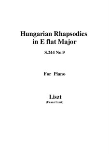 No.9 in E Flat Major, S.244: For piano by Franz Liszt
