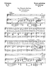 Three Songs, Op.31: No.1 Löwenbraut (Lion's Bride) by Robert Schumann
