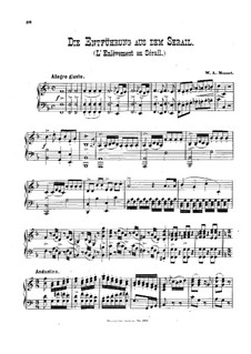 Fragments: For piano by Wolfgang Amadeus Mozart