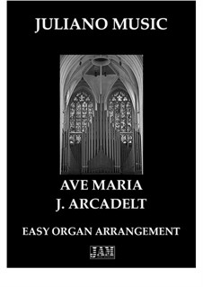 Ave Maria: For easy organ by Jacques Arcadelt