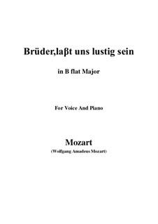 Zaide, K.344: Brüder, laβt uns lustig sein (B flat Major) by Wolfgang Amadeus Mozart