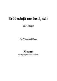 Zaide, K.344: Brüder, laβt uns lustig sein (F Major) by Wolfgang Amadeus Mozart