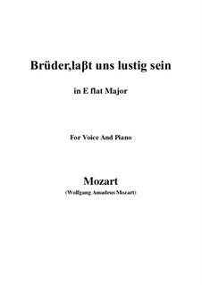 Zaide, K.344: Brüder, laβt uns lustig sein (E flat Major) by Wolfgang Amadeus Mozart