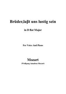 Zaide, K.344: Brüder, laβt uns lustig sein (D flat Major) by Wolfgang Amadeus Mozart