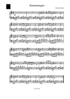 Sommerregen: For piano by Michaela Kilian