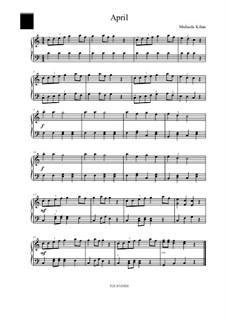 April: For piano by Michaela Kilian