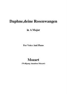 Daphne, deine Rosenwangen, K.52: A Major by Wolfgang Amadeus Mozart