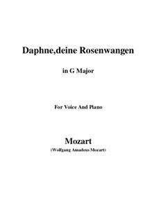 Daphne, deine Rosenwangen, K.52: G Major by Wolfgang Amadeus Mozart