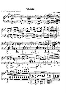 Polonaise in F Sharp Minor, Op.44: For piano by Frédéric Chopin