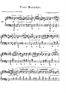 Mazurkas, Op.63: Complete set by Frédéric Chopin