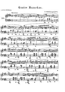 Mazurkas, Op.41: Complete set by Frédéric Chopin