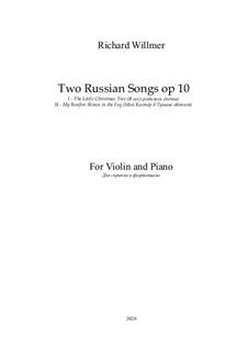 Two Russian Songs, Op.10: Complete set by Leonid Bekman, F. K. Sadovsky
