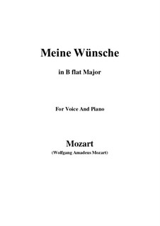 Ich möchte wohl der Kaiser sein (Meine wünsche), K.539: B flat Major by Wolfgang Amadeus Mozart