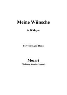 Ich möchte wohl der Kaiser sein (Meine wünsche), K.539: D Major by Wolfgang Amadeus Mozart