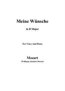 Ich möchte wohl der Kaiser sein (Meine wünsche), K.539: B Major by Wolfgang Amadeus Mozart