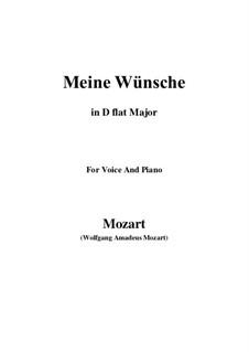 Ich möchte wohl der Kaiser sein (Meine wünsche), K.539: D flat Major by Wolfgang Amadeus Mozart