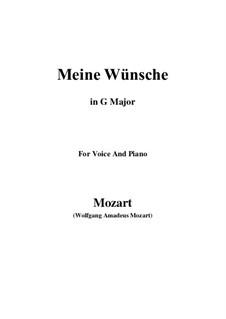 Ich möchte wohl der Kaiser sein (Meine wünsche), K.539: G Major by Wolfgang Amadeus Mozart
