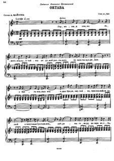 To the Poet. Five Songs, Op.45: No.3 The Octave by Nikolai Rimsky-Korsakov
