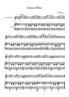 10 Easy Classical Pieces For Tenor Saxophone & Piano Vol.3: Emperor Waltz by Edward MacDowell, Johann Strauss (Sohn), Johannes Brahms, Georg Friedrich Händel, Felix Mendelssohn-Bartholdy, Robert Schumann, Muzio Clementi, Giuseppe Verdi, Anton Rubinstein, Johan Halvorsen
