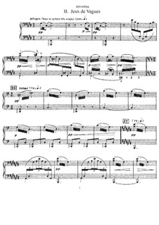 La mer (The Sea), L.109: No.2 Jeux de vagues. Version for piano four hands by Claude Debussy
