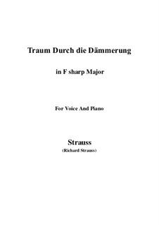 No.1 Traum Durch die Dämmerung: F sharp Major by Richard Strauss