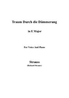No.1 Traum Durch die Dämmerung: E Major by Richard Strauss