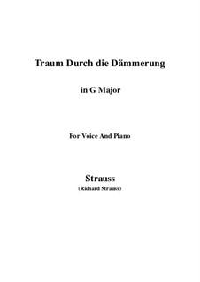 No.1 Traum Durch die Dämmerung: G Major by Richard Strauss