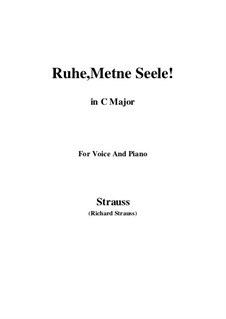 No.1 Ruhe, Meine Seele!: C Major by Richard Strauss
