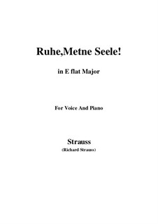 No.1 Ruhe, Meine Seele!: E flat Major by Richard Strauss