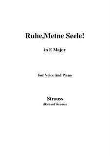 No.1 Ruhe, Meine Seele!: E Major by Richard Strauss