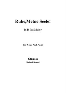 No.1 Ruhe, Meine Seele!: D flat Major by Richard Strauss