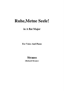 No.1 Ruhe, Meine Seele!: A flat Major by Richard Strauss