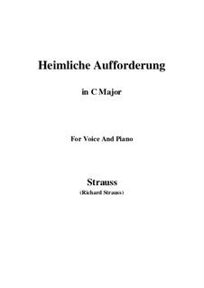 No.3 Heimliche Aufforderung: C Major by Richard Strauss