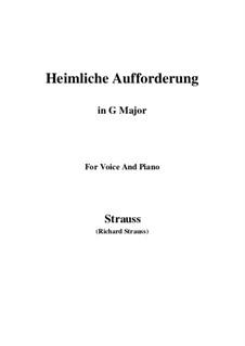 No.3 Heimliche Aufforderung: G Major by Richard Strauss