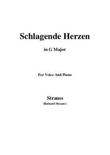 No.2 Schlagende Herzen: G Major by Richard Strauss