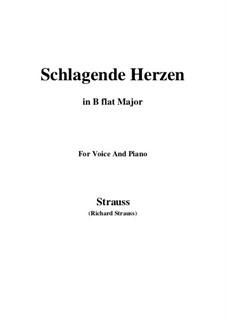 No.2 Schlagende Herzen: B flat Major by Richard Strauss