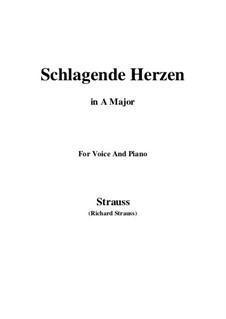 No.2 Schlagende Herzen: A Major by Richard Strauss