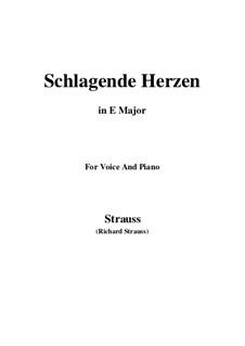 No.2 Schlagende Herzen: E Major by Richard Strauss