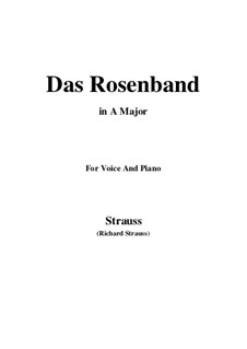 4 Lieder, Op.36: No.1 Das Rosenband (A Major) by Richard Strauss