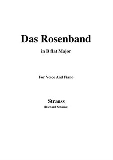 4 Lieder, Op.36: No.1 Das Rosenband (B flat Major) by Richard Strauss