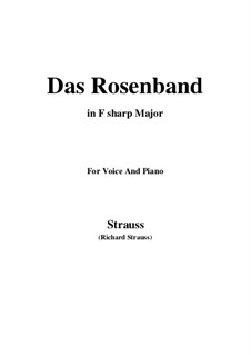 4 Lieder, Op.36: No.1 Das Rosenband (F sharp Major) by Richard Strauss