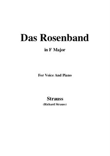 4 Lieder, Op.36: No.1 Das Rosenband (F Major) by Richard Strauss