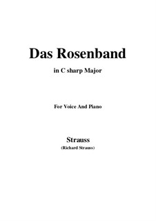 4 Lieder, Op.36: No.1 Das Rosenband (C sharp Major) by Richard Strauss