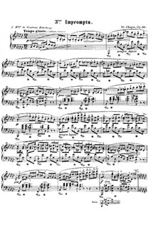 Impromptu No.3 in G Flat Major, Op.51: For piano by Frédéric Chopin