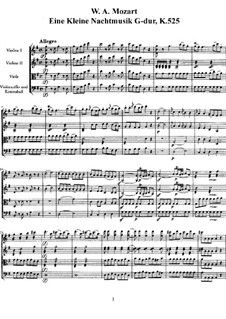 Complete Movements: Full score, parts by Wolfgang Amadeus Mozart