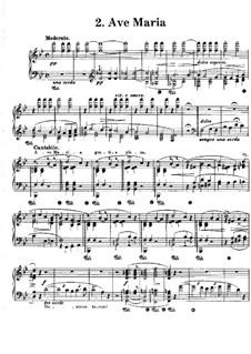 Harmonies poétiques et religieuses, S.173: No.2 Ave Maria by Franz Liszt