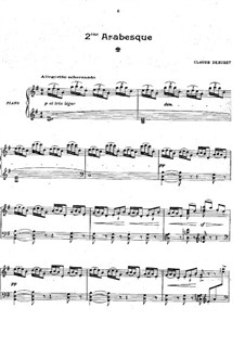 Arabesque No.2: For piano by Claude Debussy