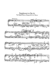 Sonata No.3 in F Minor (Concerto without Orchestra), Op.14: Supplement by Robert Schumann