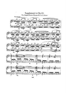 Sonata No.2 in G Minor, Op.22: Supplement by Robert Schumann